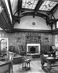 The Jacobean Smoking Room on RMS Viceroy of India