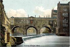 Pulteney Bridge and the old weir, site of Humphrey Soame's demise in 'Dora Dora.'