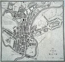 Map of Bath circa 1800.