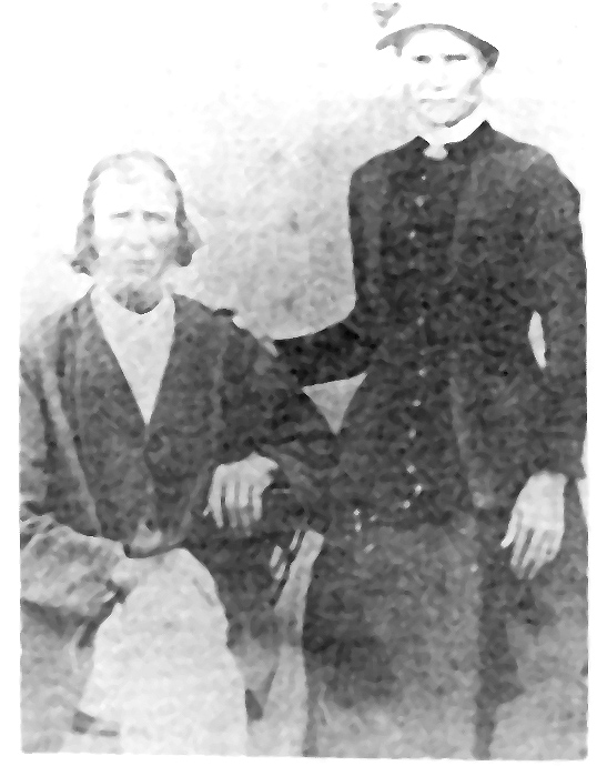 James Baker Waldon and his common law wife, Catherine Rhall, circa 1850
