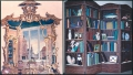 Chippendale Mirror and Bookcase - A John Wells Trompe-l-œi Creation